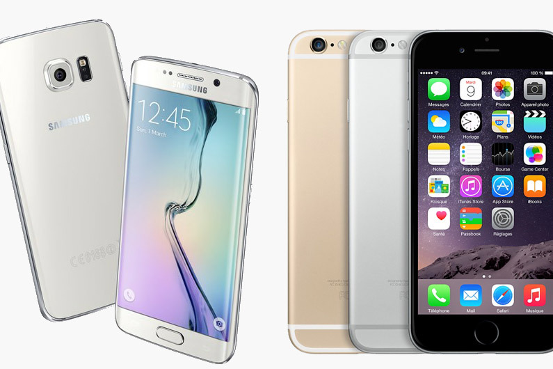 Samsung Galaxy S6 vs iPhone 6 Design