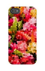 Uncommon LLC Floral Mosaic Roses Capsule Hard Case for iPhone 5/5s