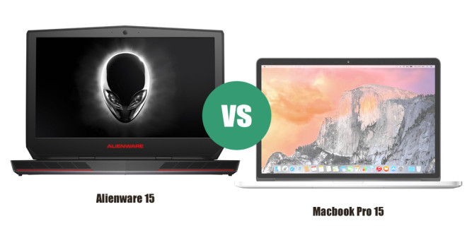 Alienware 15 vs Macbook Pro 15
